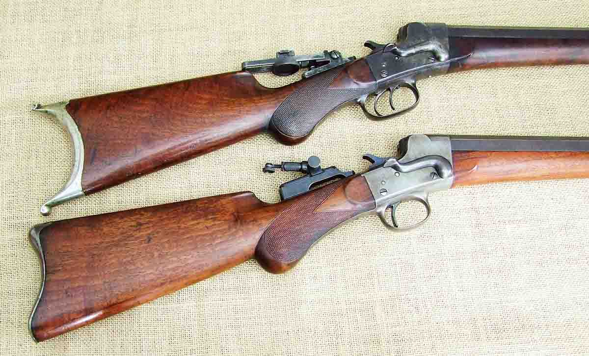 A pair of .38-50 Hepburns. A (top) No. 3 Match Grade A and No. 3 Sporter.