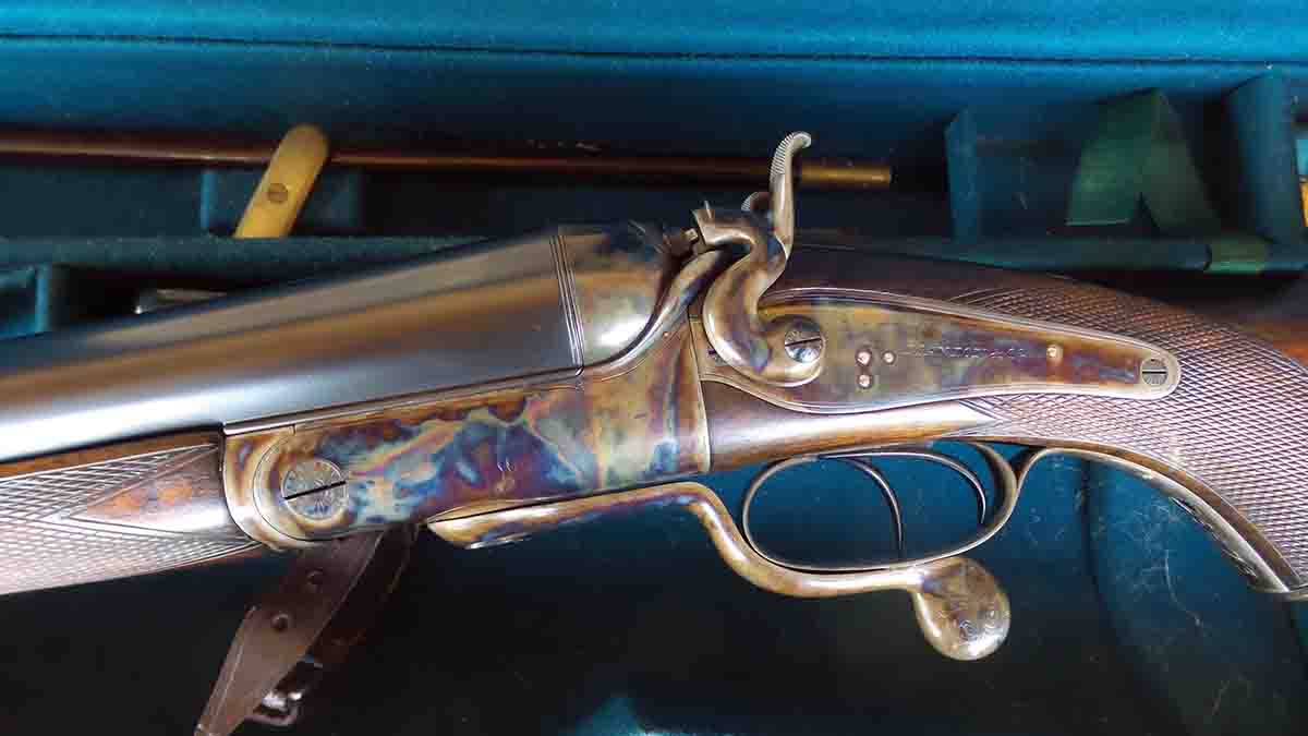 A 10-bore, 14-pound Manton is shown rifled for a 700-grain ball shooting 10 drams of powder.