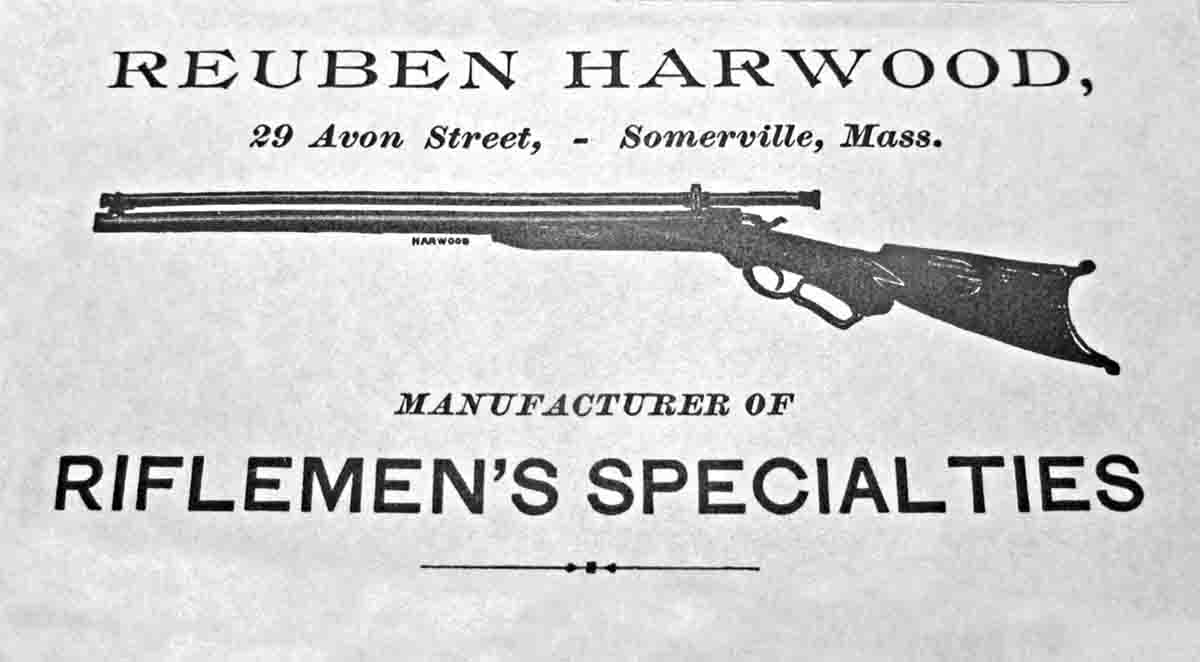 Reuben Harwood advertisement in the 1895 Ideal Handbook.