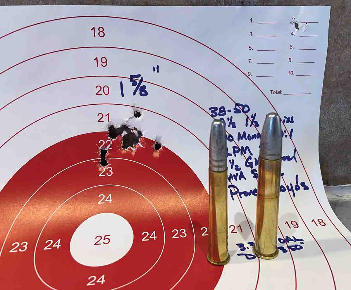 Rick Moritz's two favorite BPCR cartridges; the .38-50 Remington Hepburn and Sharps .45-90.