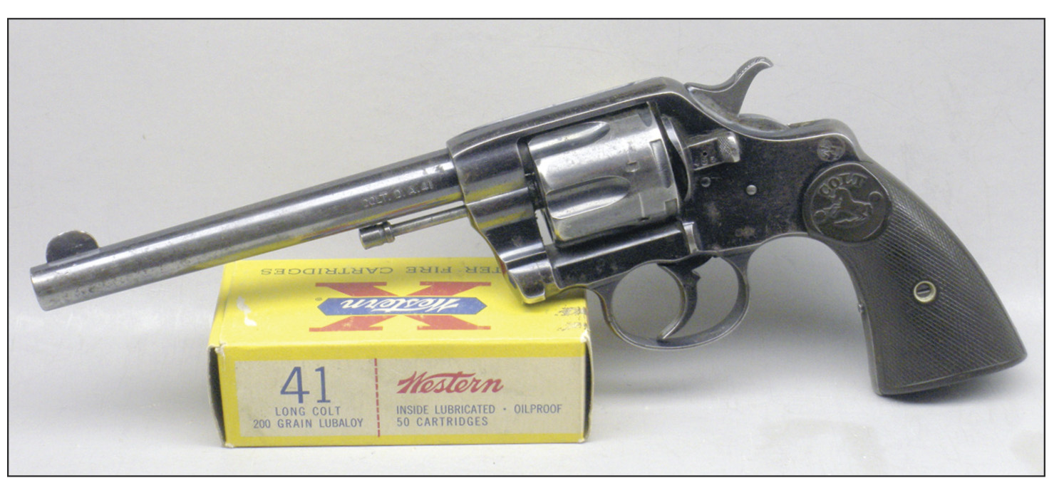 During the transition from black to smokeless powder, the .41 Colt was quite popular and chambered in a variety of handguns, including Colt single- and doubleaction revolvers and pocket pistols and derringers from several manufacturers. Many police departments, along with folks of dubious character, preferred the .41 Colt or .41 Long Colt with a 200-grain inside- or outside-lubricated, blunt-nose lead bullet, respectively, over the .38 Smith & Wesson and/or .38 S&W Special so-called 200-grain Police loads.