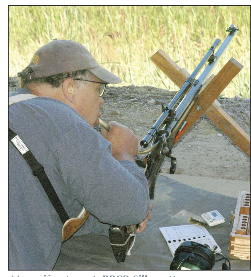 "Many, if not most, BPCR Silhouette competitors use a ""blow tube"" to keep black-powder fouling soft just ahead of the rifle's chamber during a string of shots."